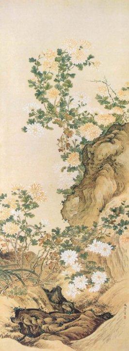 Kikkazu (Chrysanthemums) by Noguchi Yūkoku
