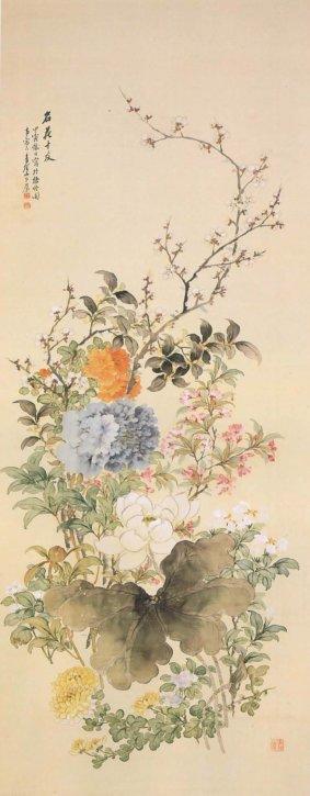 Meikajūyū (Great 10 Flowers Like 10 Friends) by Yamashita Seigai