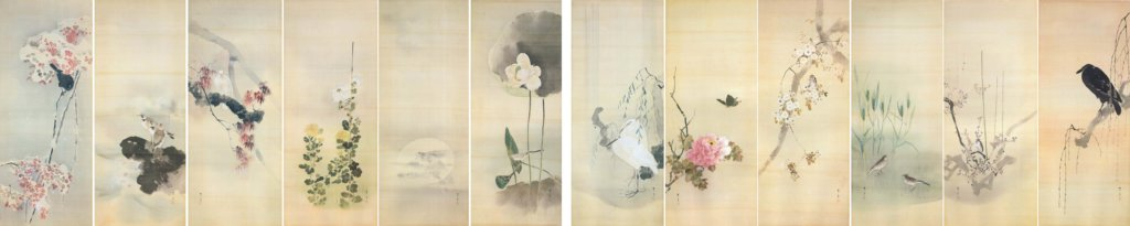 Bird-and-Flower Paintings by Watanabe Seitei