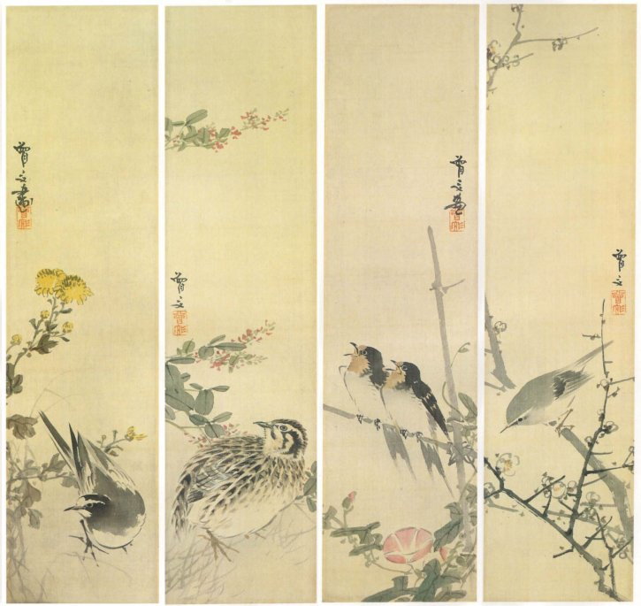 Flowers and Birds of the Four Seasons by Morikawa Sobun