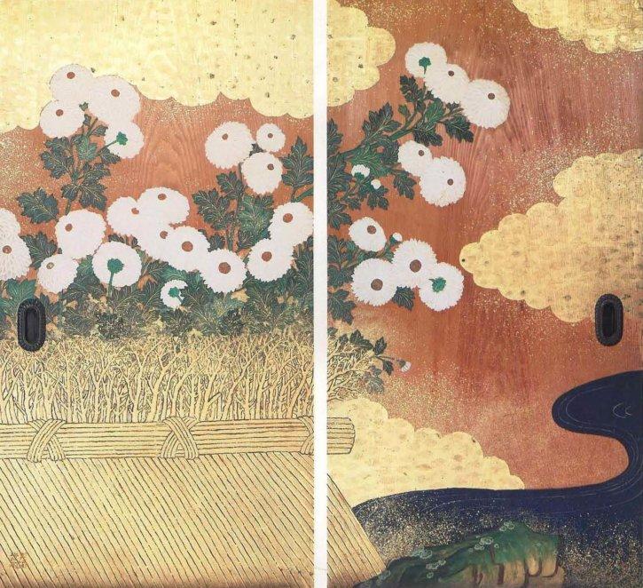 White Chrysanthemums by Tsubata Michihiko