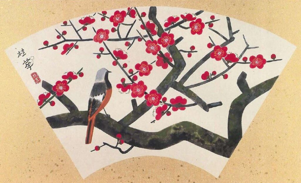 Red Plum Blossoms by Kanashima Keika